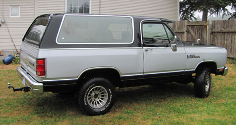 1988 Dodge Ramcharger LE 150 By John Bowlsby image 2.