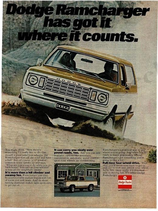 1976 Dodge Ramcharger Advertisement