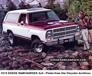 1979 Dodge Ramcharger 4x4, photo from Dodge brochure.