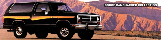 1989 Dodge Ramcharger, photo from Dodge Truck brochure.